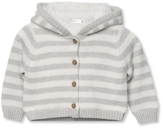 M&Co Striped fleece cardigan (Newborn-18mths)