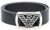 Emporio Armani logo buckle belt - men - Leather - 90
