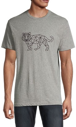 French Connection Tiger-Print Cotton-Blend Tee
