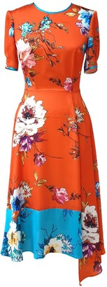 Mellaris Vivien Dress Orange Vibrant Floral Print
