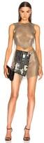 Fannie Schiavoni Mesh and Scale Dress