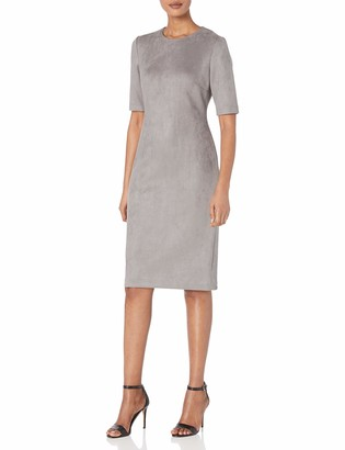 Anne Klein Women's Suede Scuba Sheath Dress