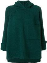Nude knitted hoodie