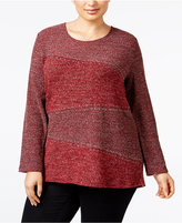 Style&Co. Style & Co. Plus Size Embellished High-Low Top, Only at Macy's