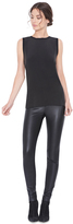 Alice + Olivia Black Front Zip Leather Legging
