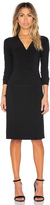 Norma Kamali KAMALIKULTURE Long Sleeve Side Draped Dress