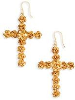 Women's Virgins Saints & Angels Rose Cross Drop Earrings