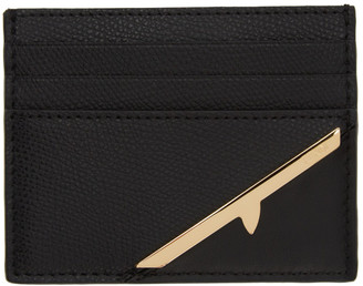 Fendi Black Corner Bugs Card Holder