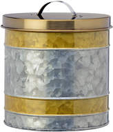 Global Amici Galvanized & Gold 140-Oz. Canister