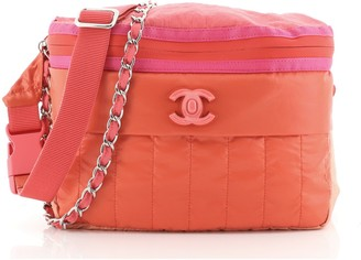 Chanel CC Lock Chain Waist Bag Nylon 85