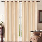 Simple Elegance New York Faux Silk Window Curtain (Beige)