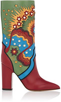Valentino WOMEN'S ENCHANTED LEATHER MID-CALF BOOTS