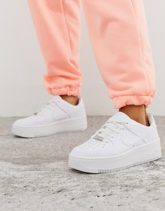 Nike White Air Force 1 Sage Low Sneakers