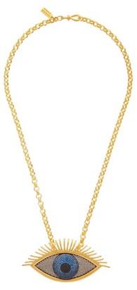 BEGÜM KHAN Evil Eye 24kt Gold-plated Pendant Necklace - Gold