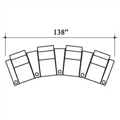 Bass Deco Penthouse Home Theater Row Seating (Row of 4