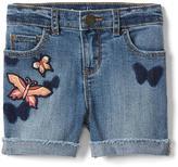Stretch butterfly midi shorts