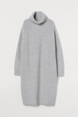 H&M Knit Turtleneck Dress - Gray