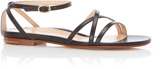 Marion Parke Jackie Strappy Ankle-Strap Flat Sandals