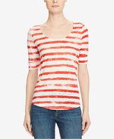 Lauren Ralph Lauren Scoop Neck Linen T-Shirt