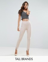Missguided Tall Split Front Cigarette Pants