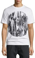 McQ by Alexander McQueen Woodgrain-Print Short-Sleeve T-Shirt