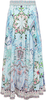 Camilla Lovers Retreat Printed Silk Crepe De Chine Maxi Skirt