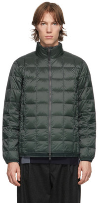 TAION Grey Down Basic High Neck Puffer Jacket
