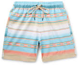 Faherty Mid-length Printed Swim Shorts - Blue