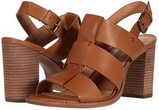 Madewell Gail Wide Strap Heeled Sandal (English Saddle) Women's Shoes