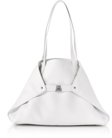 Akris White Cervocalf Ai Small Shoulder Bag