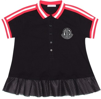 Moncler Enfant Stretch cotton pique dress