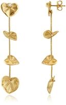 Torrini Leaf - Diamond 18K Yellow Gold Drop Earrings