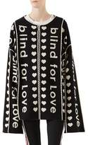 Gucci Blind For Love Jacquard Wool Coat