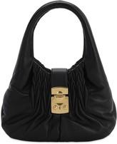 Miu Miu Quilted Metallic Leather Top Handle Bag