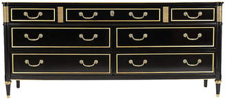 One Kings Lane Vintage Louis XVI Dresser by Baker - Castle Antiques & Design - gold/black