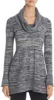 Heather B Cowl Neck Pointelle Sweater
