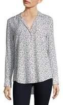 Equipment Kiera Floral-Print Silk Shirt
