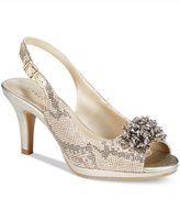 Karen Scott Briant Embellished Peep-Toe Pumps, Only at Macy's