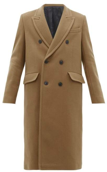 Ami Double-breasted Wool-blend Coat - Mens - Camel