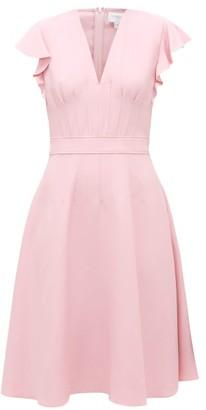 Giambattista Valli Flounced-sleeve Flared Crepe Midi Dress - Light Pink