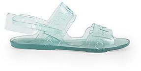 Off-White Women's Zip Tie Logo Jelly Sandals
