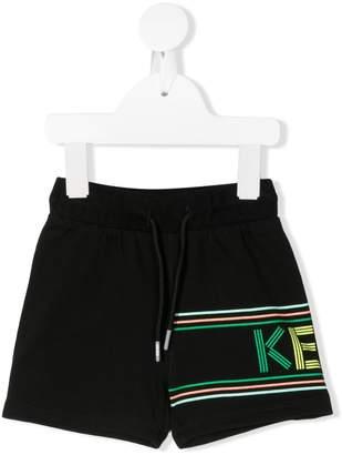 Kenzo Striped-Logo Track Shorts