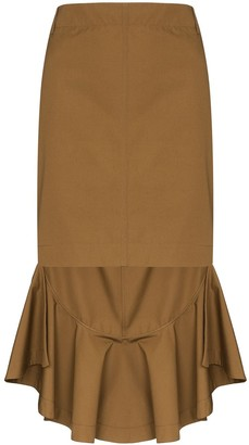 Givenchy Asymmetric Ruffled Skirt