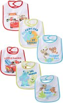 Baby Essentials Baby-Boys Newborn 6 Pack Pixar Bibs