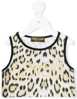 Roberto Cavalli leopard print crop top