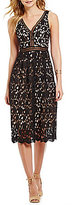 Gianni Bini Milly V-Neck Lace Midi Dress