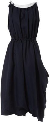Celine Navy Linen Dresses