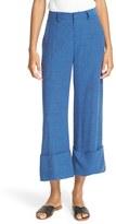 Sea Women's Cuffed Silk & Cotton Tweed Pants