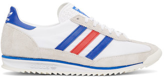 adidas White and Grey SL 72 Sneakers