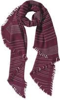 Joe Fresh Women's Stripe Blanket Scarf, JF Midnight Blue (Size O/S)